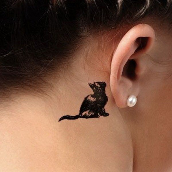 small cat tattoo pictures design ideas