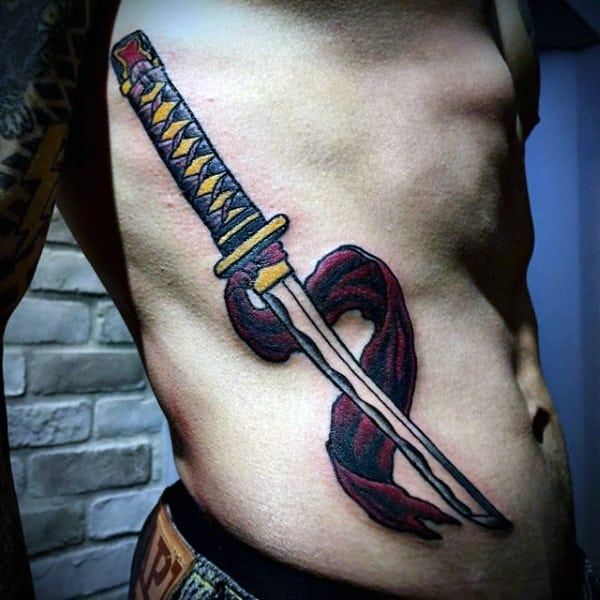 samurai stomach sword tattoo images