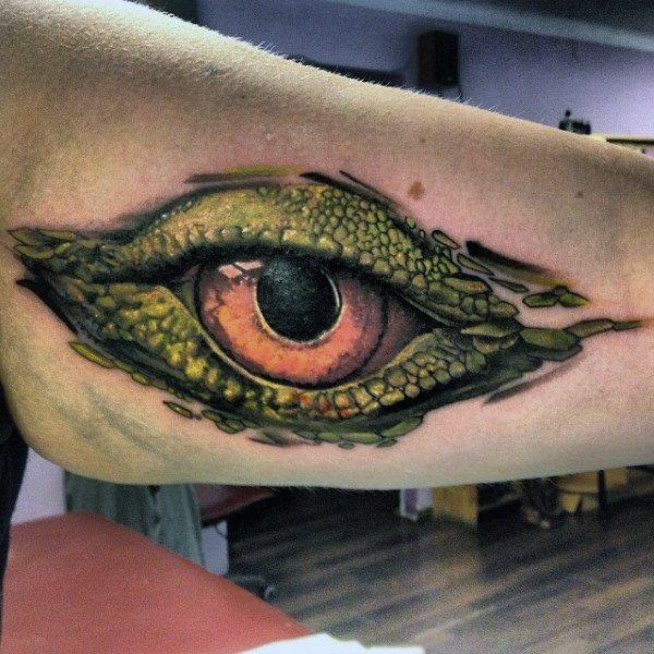 lizard eye images on body