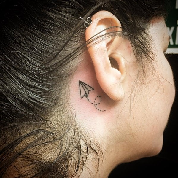 girl tattoos behind ear for ladies images