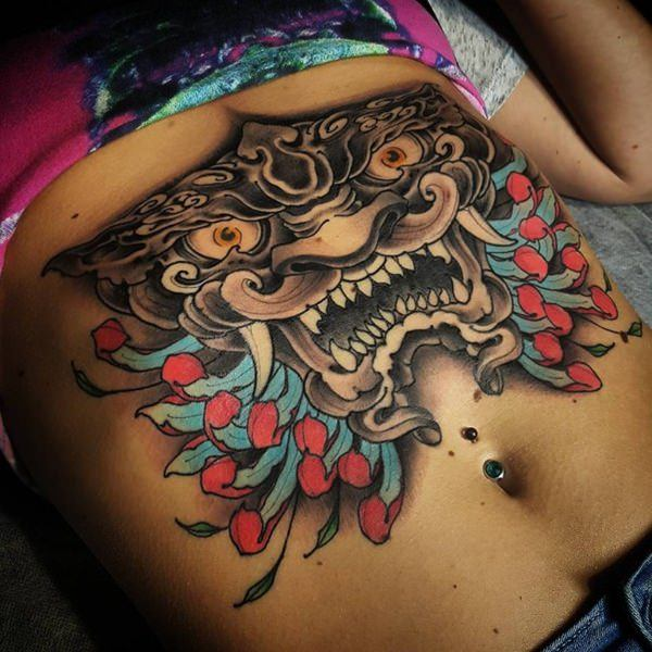 tattoo abdomen female