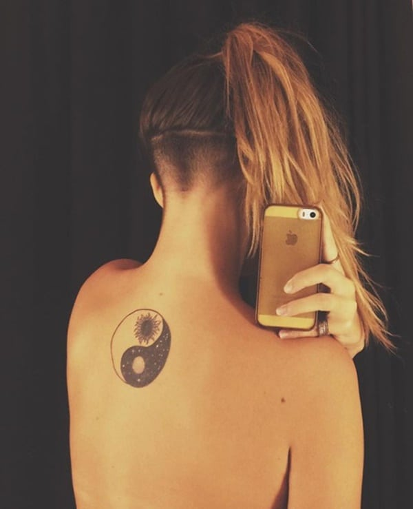 temporary yin yang tattoos for girls on spine