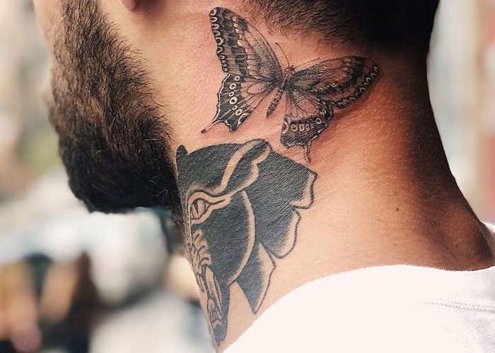 tattoo for man in neck