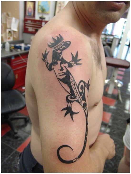 lizard tattoo design may not seem