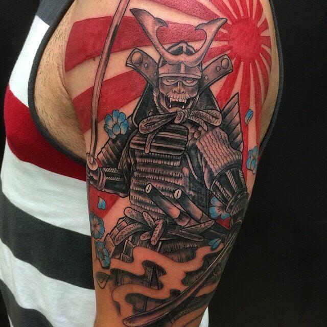 colorful japanese dragon tattoo ideas