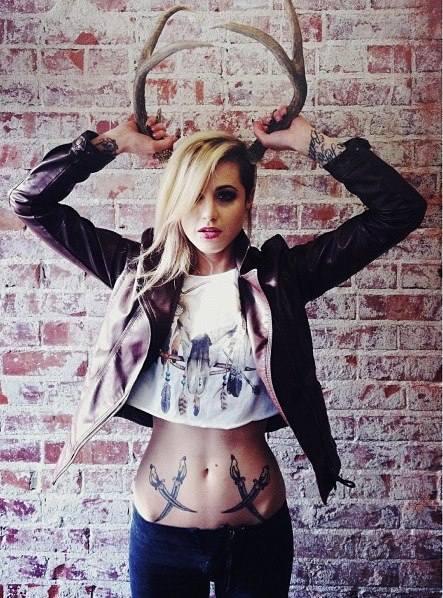 tummy small tattoos for ladies design