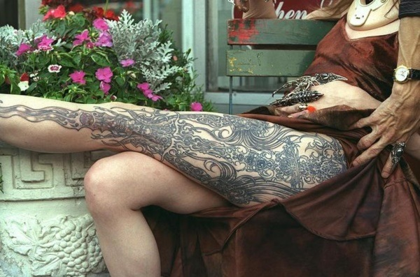 women tattoos for the back of your legs design ideas