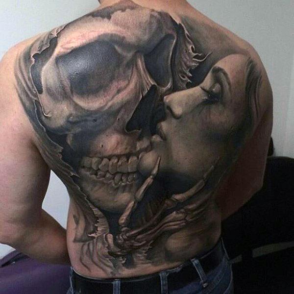 full back tattoo female images