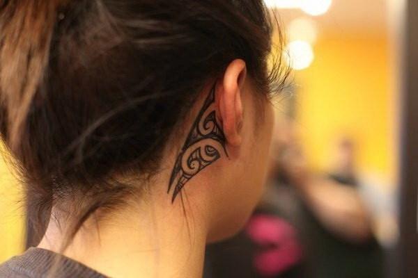 mandala tattoo on back of ear cartilage images