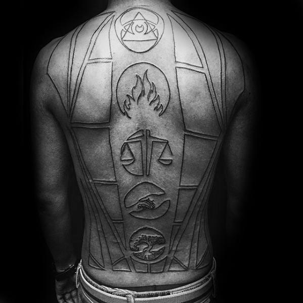 beautiful full back tattoos design for guys design