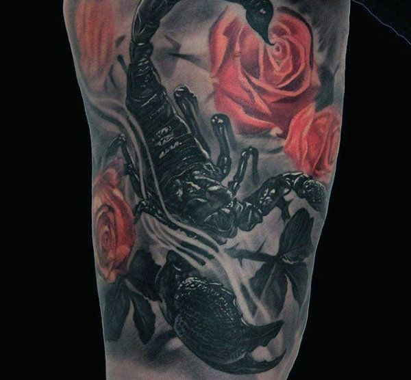 Traditional Scorpion Tattoo Designs For Men