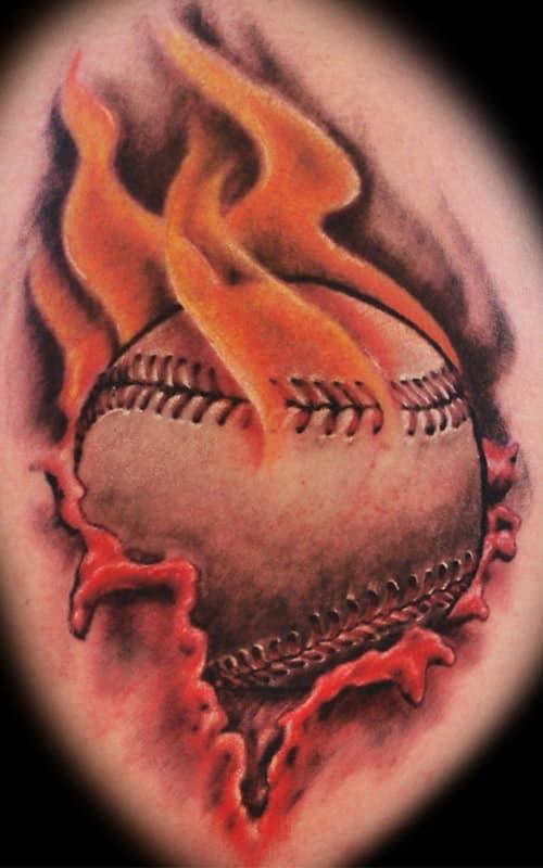 tennis ball firefighter tattoo designs