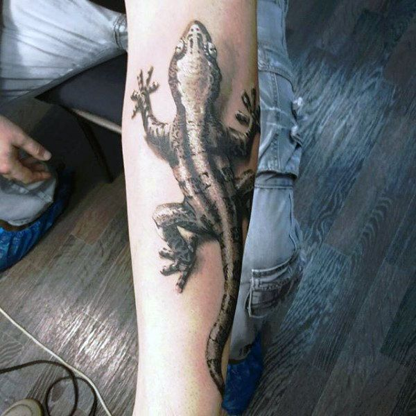 tribal lizard design for men images