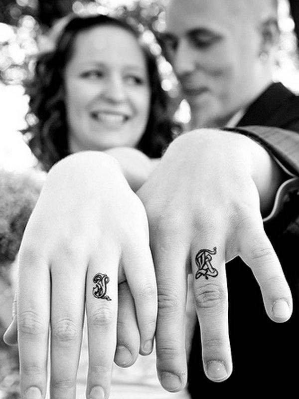 best permanent wedding ring tattoos design images