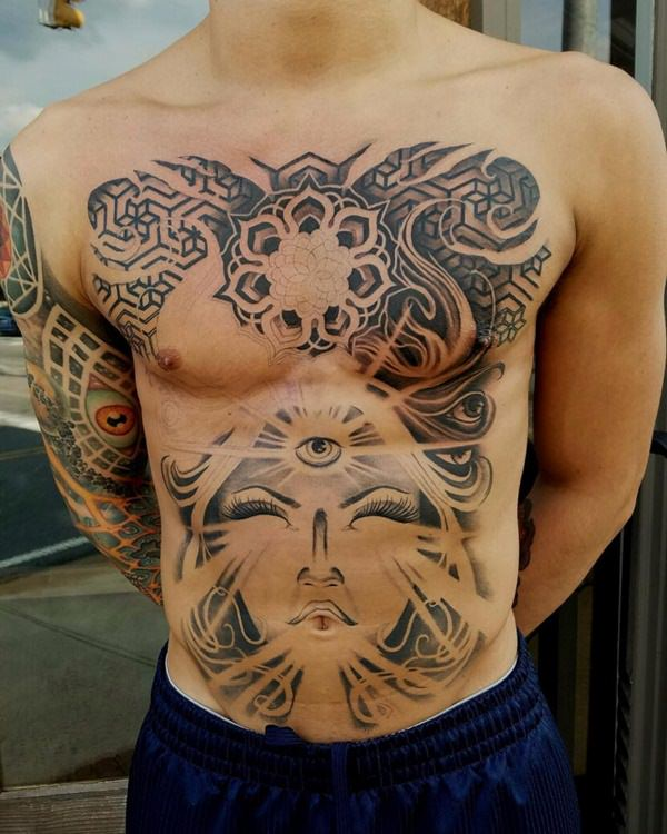 male stomach tattoos ideas  pictures