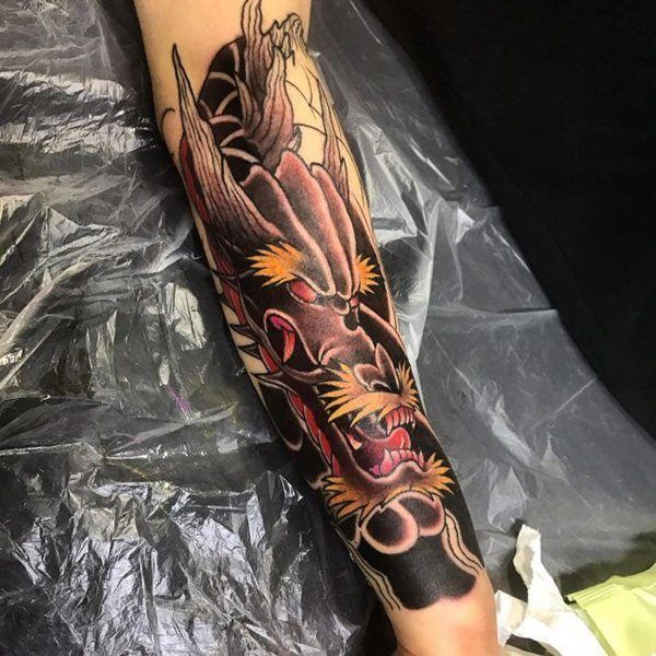 arm dragon japanese tattoo designs images