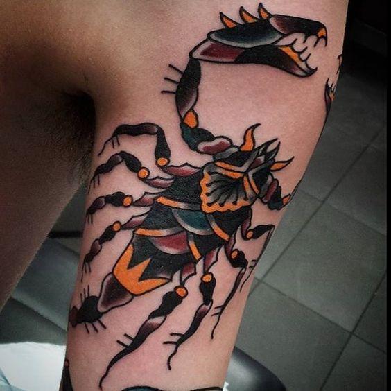 men shoulder best scorpion tattoo designs