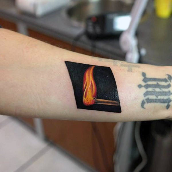 flame tattoo forearm images