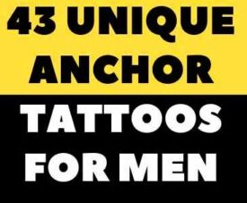 REALISTIC ANCHOR TATTOO FOR MEN IDEAS PICTURE