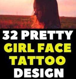 CUTE GIRLY FACE TATTOOS REALISTIC DESIGN