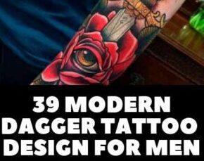 DAGGER TATTOO DESIGN FOR MEN