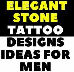 40 Elegant Stone Tattoo Designs Ideas For Men art
