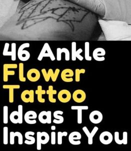 Ankle Flower Tattoo Ideas for Female