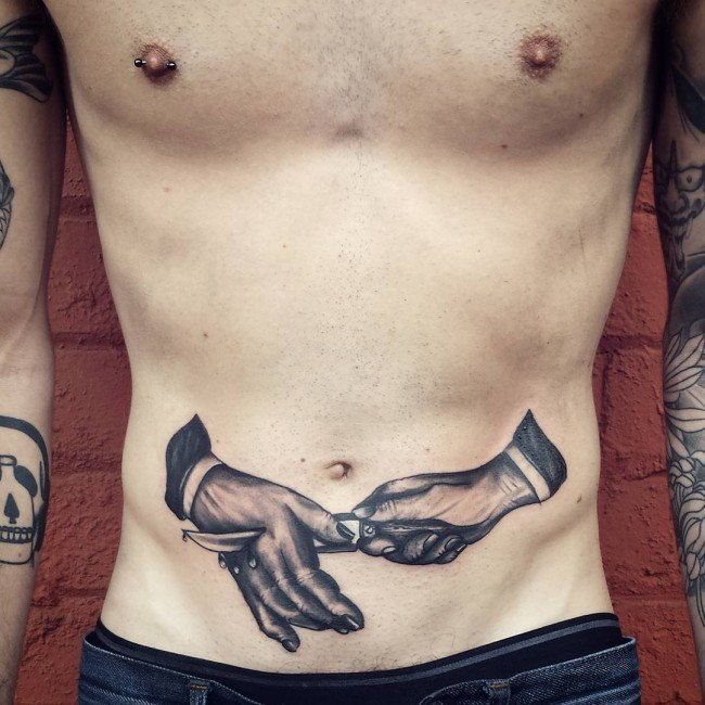 Coolest Stomach Tattoos For Men and Guys