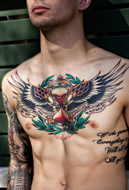 GUARDIAN ANGEL TATTOO FOR MEN AND GUYS INSPIRATION