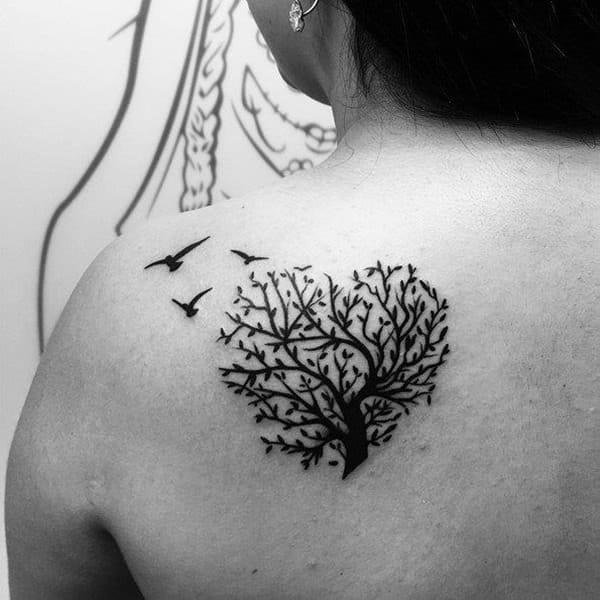 ELEGANT back TREES TATTOOS DESIGNS FOR WOMEN