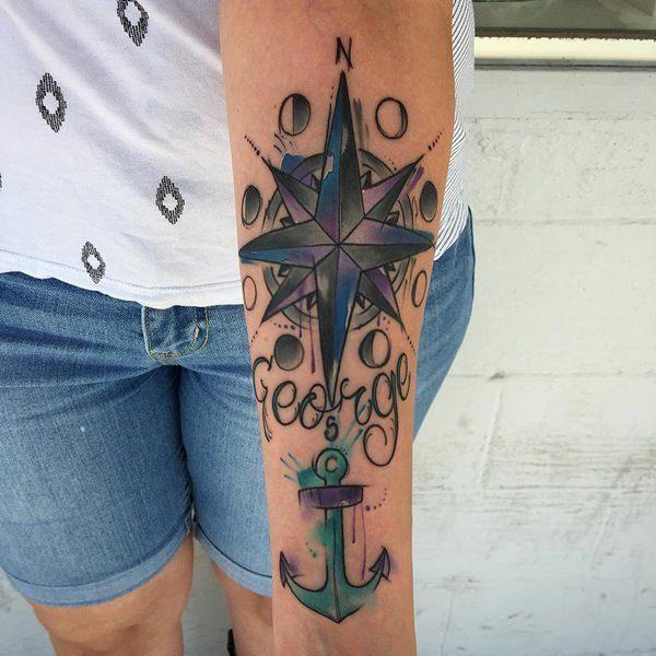 Beautiful Anchor Tattoos For Women