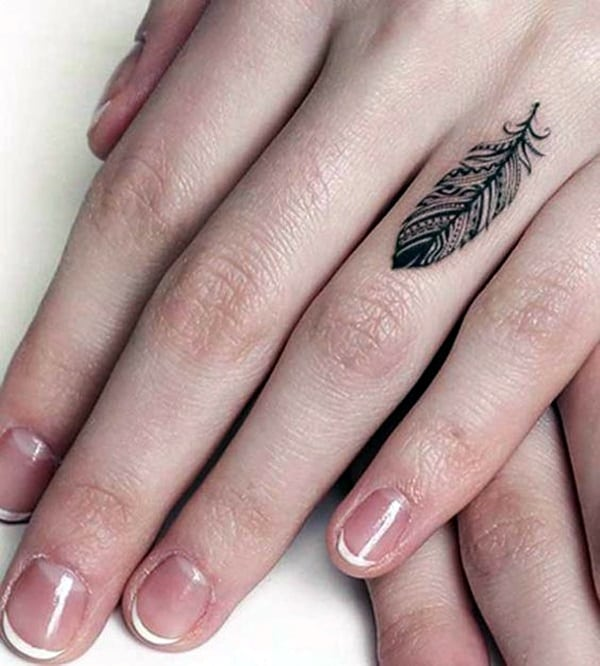 feminine finger tattoos ideas