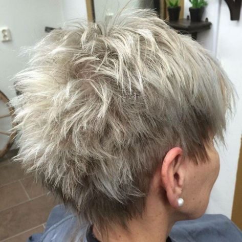 very short gray hair women over 40