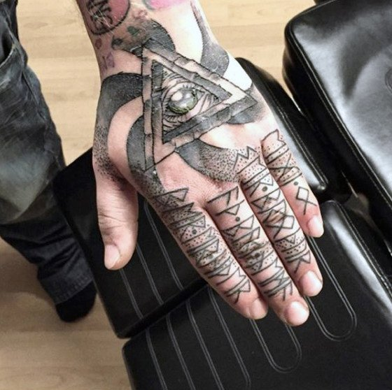 hand finger tattoo symbols for guys ideas