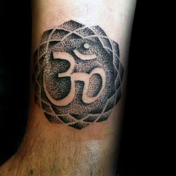 om tattoo male design ideas