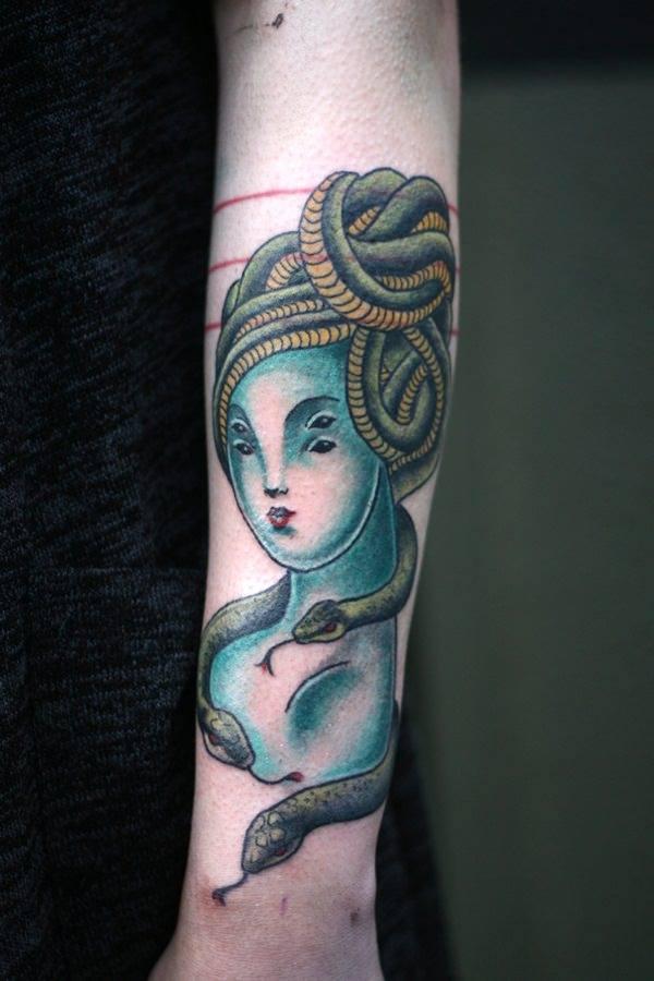 arm best medusa tattoo for ladies images