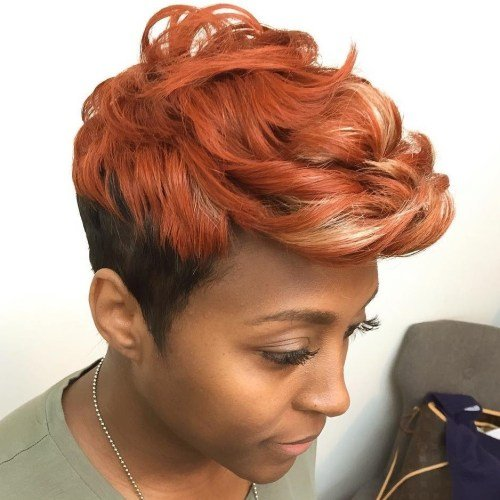 coloured short human hair weave styles