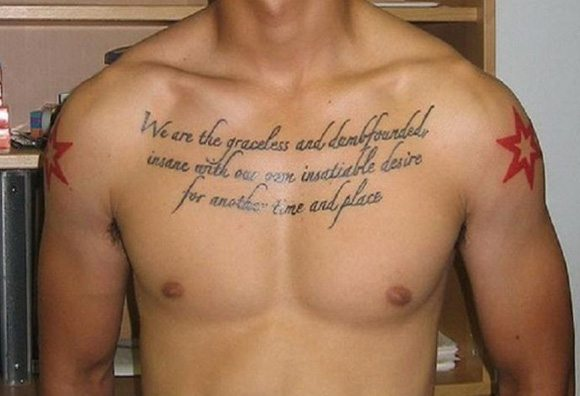 chest tattoo word ideas for guys images