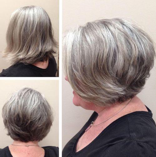 modern short hairstyles for grey hair female