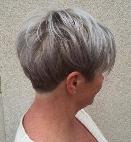 curly short grey hairstyles