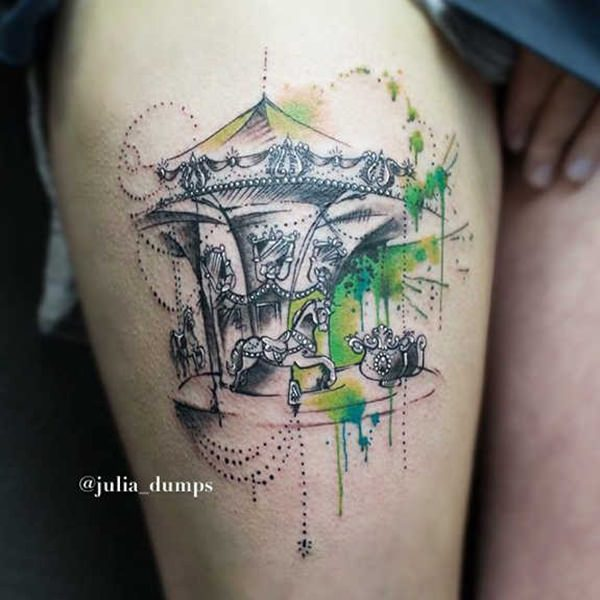 hot sexy tattooed women on leg