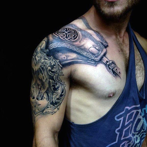 full shoulder arm sleeve tattoo for guys men