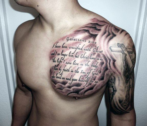 mens word tattoos