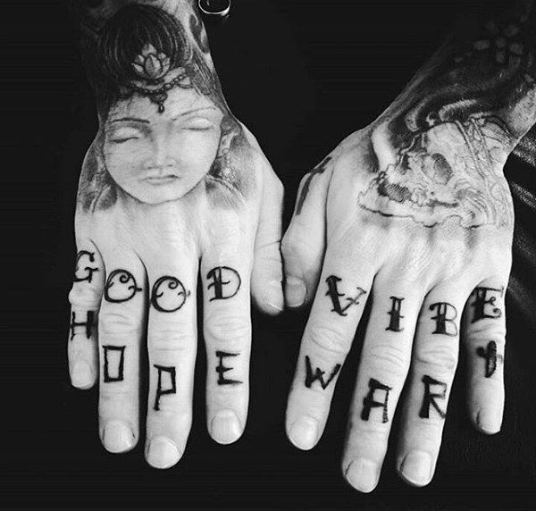 hand finger tattoo symbols and meanings