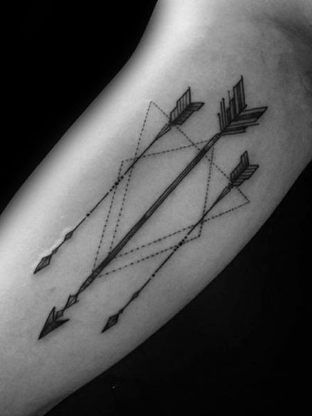 best tattoo for men arm arrow design