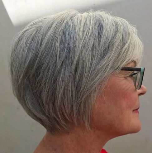 best short grey haircuts for women over 50