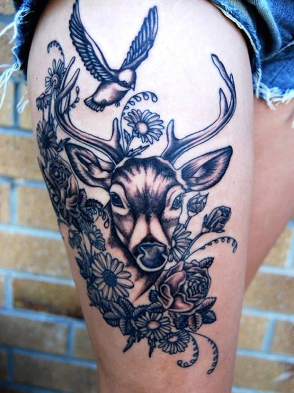 sexiest thigh tattoos design ideas images