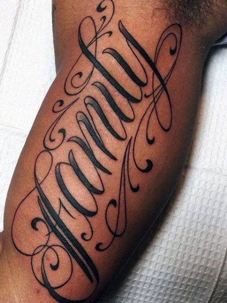 lettering simple arm tattoos for men ideas images
