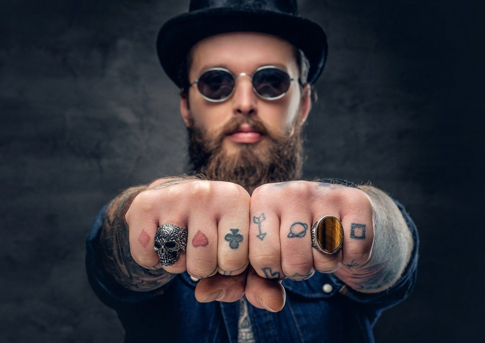 mini finger tattoos  guys design ideas