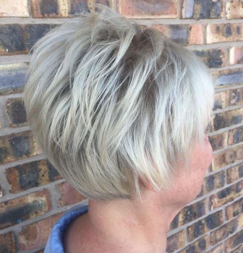 gray hair short bob